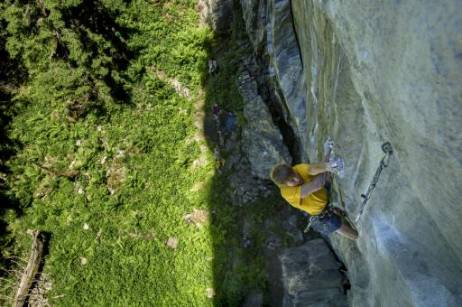 Alex Megos on Companion of Change 9a+ Bergstation Zillertal UKC