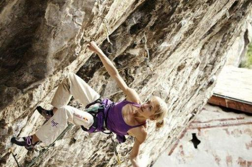 Angela Eiter on Zauberfee 8c+ Arco UKC