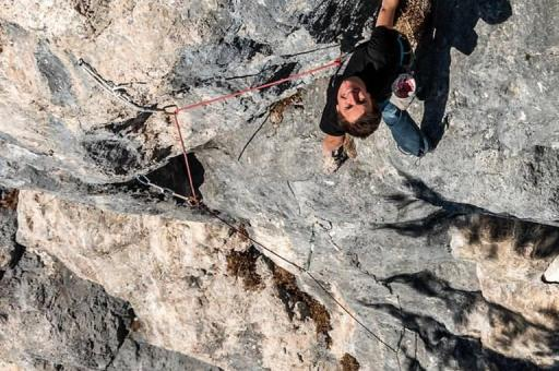 Roland Hemetzberger on his new 9a at Achleiten Austria UKC