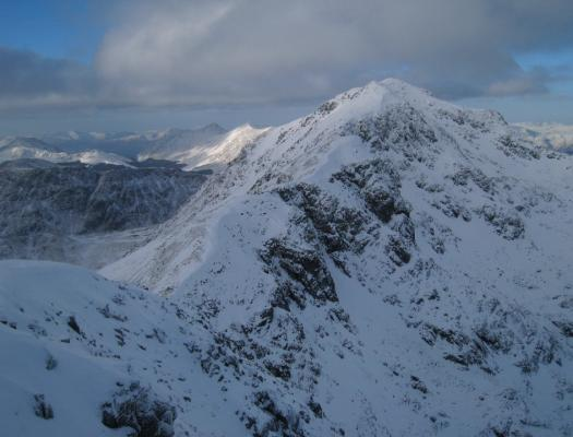 Bidean nam Bian in winter