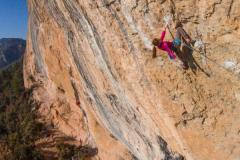 Laura Rogora on Fish eye 8c Oliana UKC